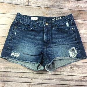 {GAP 1969} Slim Cut Off Shorts Sz 27